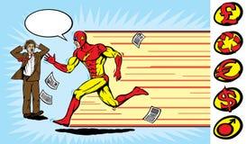 Superheldseitentrieb Stockbild