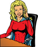 Superheldsupport Lizenzfreie Stockfotografie