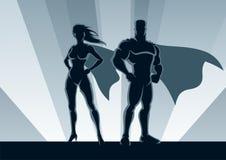 superhero ζευγών Στοκ εικόνες με δικαίωμα ελεύθερης χρήσης