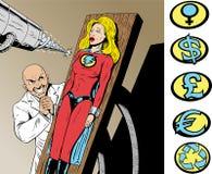 superhero κινδύνου διανυσματική απεικόνιση