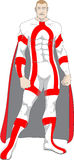 Superhero κόκκινος και άσπρος στοκ εικόνες με δικαίωμα ελεύθερης χρήσης