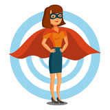 superhero οικογενειακής θηλυκό σειράς επέκτασης Στοκ Φωτογραφία