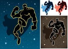 Superhero στον ουρανό Στοκ φωτογραφία με δικαίωμα ελεύθερης χρήσης