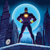 superhero Διανυσματική απεικόνιση σε ένα υπόβαθρο Στοκ Φωτογραφία
