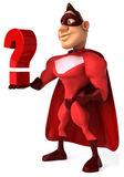Superhero. Fun superhero, ready to save the world Royalty Free Stock Image