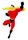 Superhero. Cartoon illustration of a superhero in flying pose Stock Photography