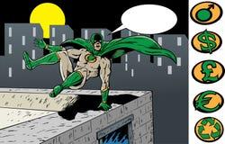 Superhero aan de redding Stock Afbeeldingen