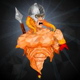 Superhero in abstract low poly polygon style Stock Images