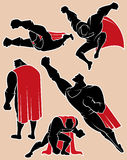 Superhero in Actie 2 Royalty-vrije Stock Afbeelding