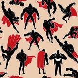 Superhero in Actie Naadloos Patroon vector illustratie