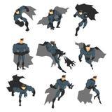 Superhero in Action Royalty Free Stock Photo