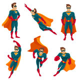 Superhero Actions Icon Set royalty free illustration