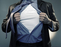 Superhero add text to chest Stock Photo