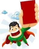 Superhero with Ads Stock Image