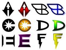Superhero or athletics symbols Stock Photo