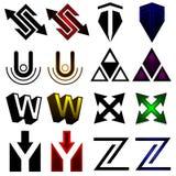 Superhero or athletics symbols s-z Stock Photo