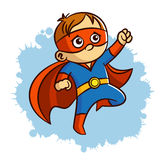 Superhero Baby Boy Fire Sticker. Vector Illustration Stock Photography