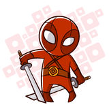 Superhero Baby Boy Fire Sticker. Vector Illustration Royalty Free Stock Image