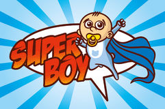 Superhero Baby Boy. Vector Illustration stock illustration