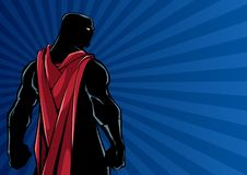 Superhero Back Ray Light Silhouette stock images