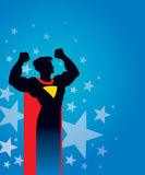 Superhero background Stock Images
