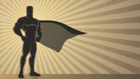 Superhero Background Loop stock illustration