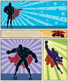 Superhero Banners. Set of 4 superhero banners. No transparency and gradients used Stock Photography