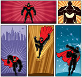 Superhero Banners 5 Royalty Free Stock Image