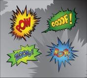 Superhero bashing royalty free illustration