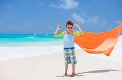 Superhero at beach Royalty Free Stock Photography