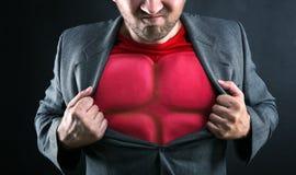 Superhero binnen Royalty-vrije Stock Foto's