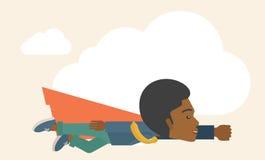 Superhero black businessman Stock Image