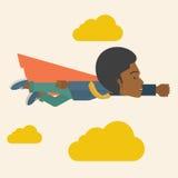 Superhero black businessman Stock Photography