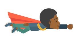 Superhero black businessman Stock Images