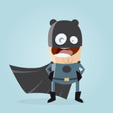 Superhero in black costume Stock Images