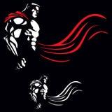Superhero on Black Stock Images