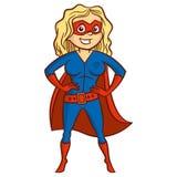 Super hero woman Cartoon character Stock Images