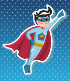Superhero boy cartoon. Royalty Free Stock Photos