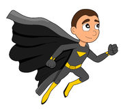 Superhero boy cartoon Royalty Free Stock Image
