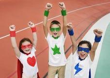 Superhero Boy Girl Brave Imagination Concept. Superhero Boy Girl Brave Imagination Stock Image
