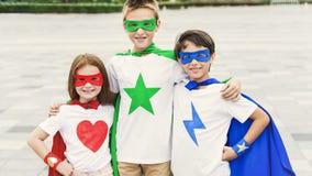 Superhero Boy Girl Brave Imagination Concept. Superhero Boy Girl Brave Imagination Royalty Free Stock Photo