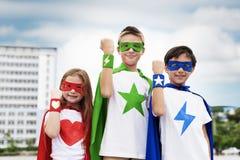 Superhero Boy Girl Brave Imagination Concept. Superhero Boy Girl Brave Imagination Stock Images
