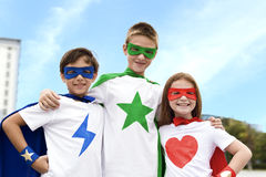 Superhero Boy Girl Brave Imagination Concept Royalty Free Stock Photos