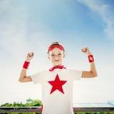 Superhero Boy Imagination Freedom Happiness Concept Stock Photos