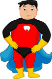 Superhero boy posing royalty free illustration