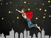Superhero boy Stock Photography