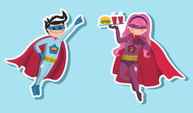 Superhero boys illustration Stock Photography