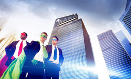 Superhero Business People Strength Cityscape Concept Royalty Free Stock Photo