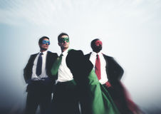 Superhero Business People Strength Cityscape Team Concept Royalty Free Stock Photos
