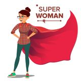 Superhero Business People Vector. Successful Superhero Business Woman And Man In Action. Young Professional Manager royalty free illustration